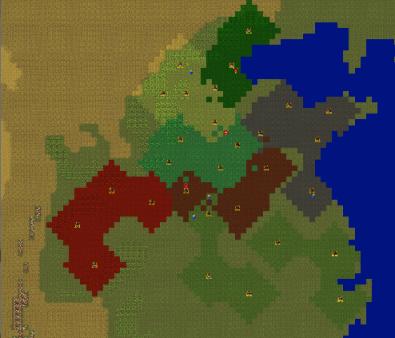 A screenshot of my last project, Mandate