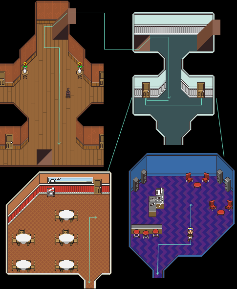 This is only a rough idea of all the waypoints.  Click for animation!